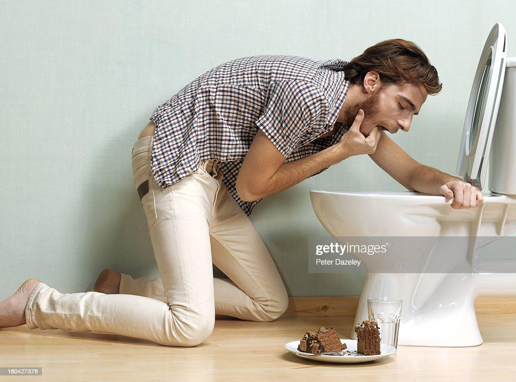 Man with bulimia : Stock Photo