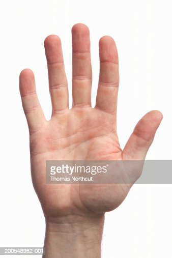 Man with callused hand, close-up of hand
