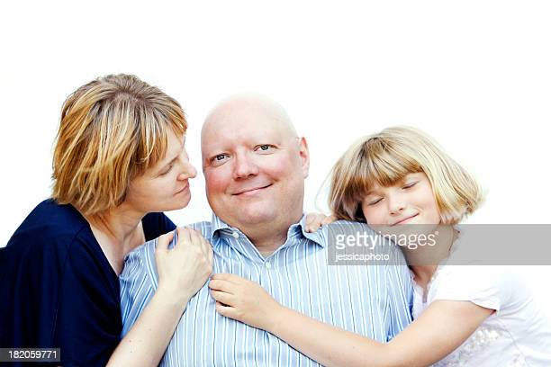 Man with Cancer and His Family