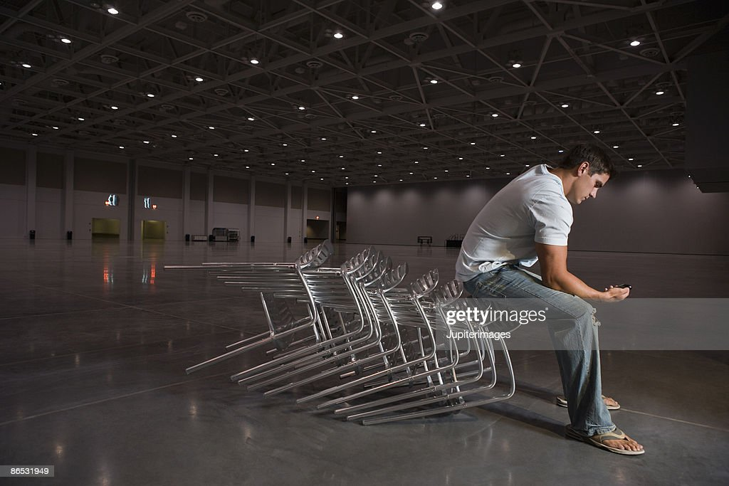 Man with cell phone : Stock Photo