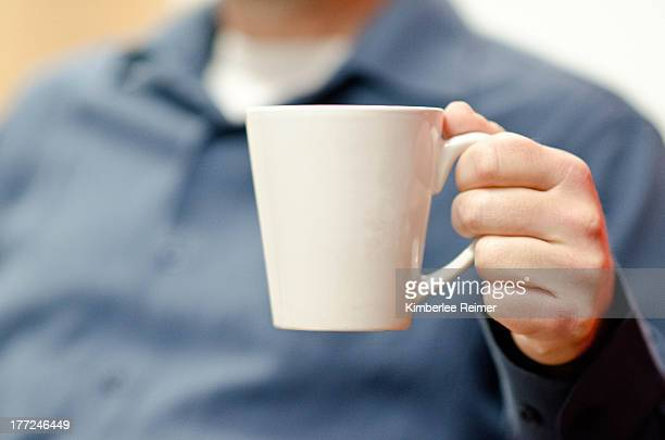 Man with coffee mug