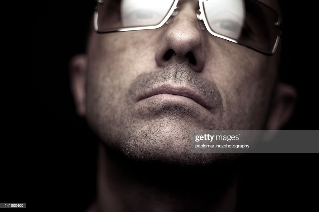 Man with cool glasses : Stock Photo