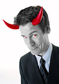 Man with devil horns
