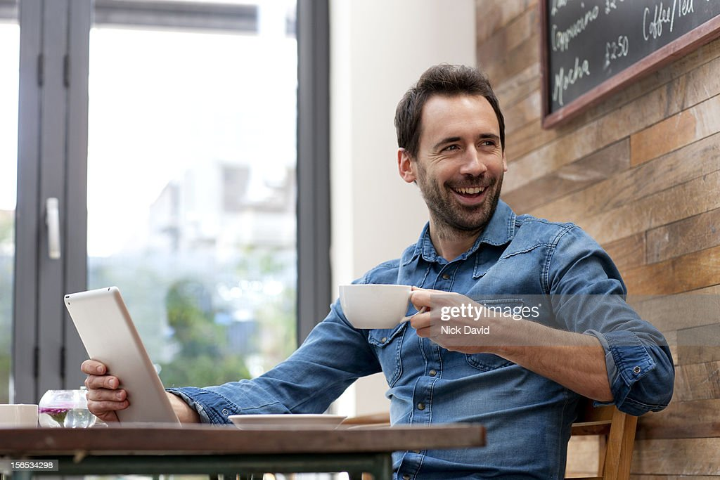 man with digital tablet : Stock Photo