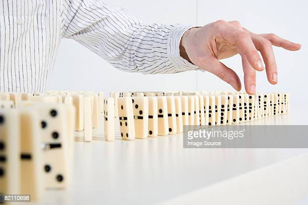 Man with dominoes