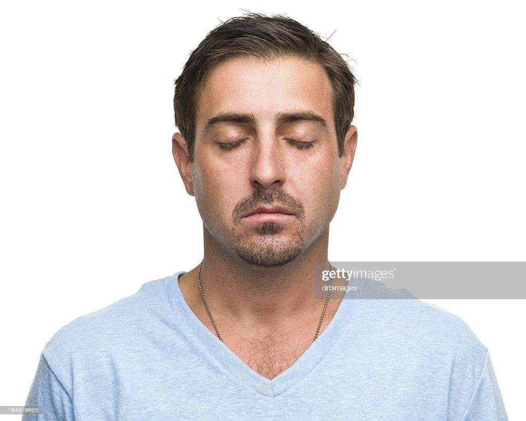 Man With Eyes Closed Meditating