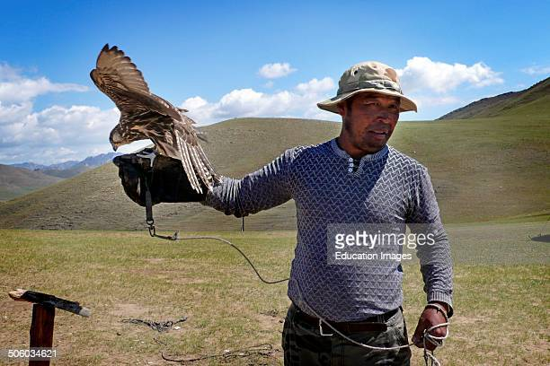 Man With Hawk Terelji Mongolia