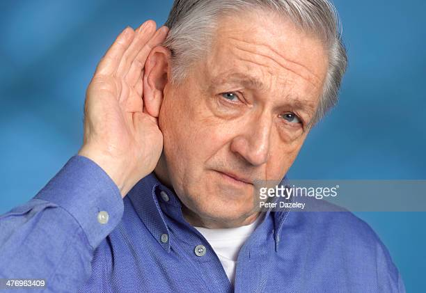 Man with hearing difficulties