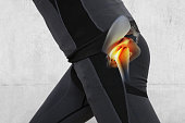 Man with hip joint pain. Sport exercising injury