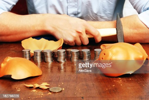 man with his savings