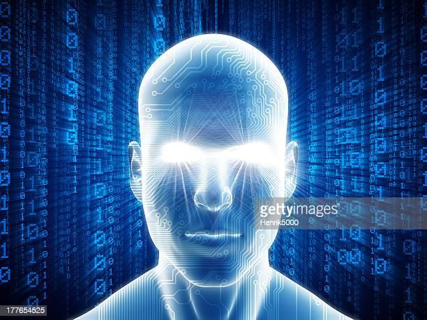 Mann mit High-tech-cyber-Stil