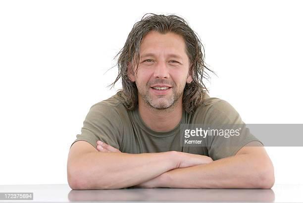 Homme avec Cheveux longs