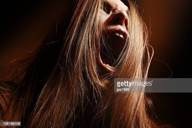 Man with Long Hair Yelling