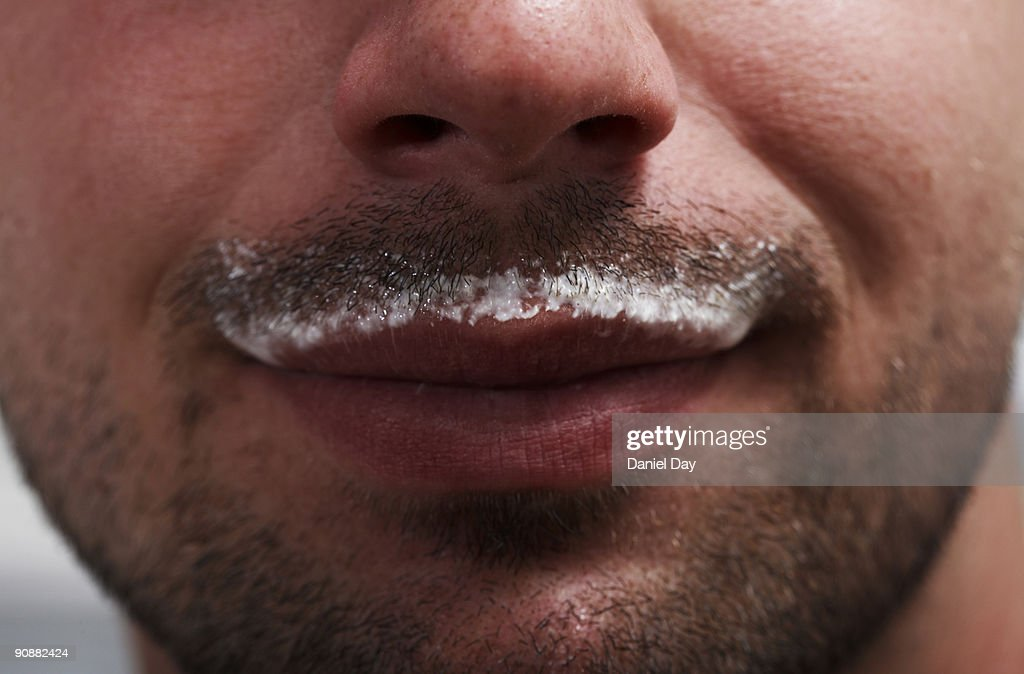 man with milk mustache