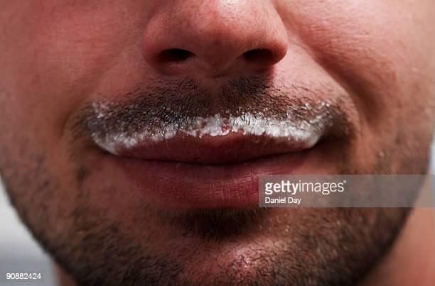 man with milk mustache
