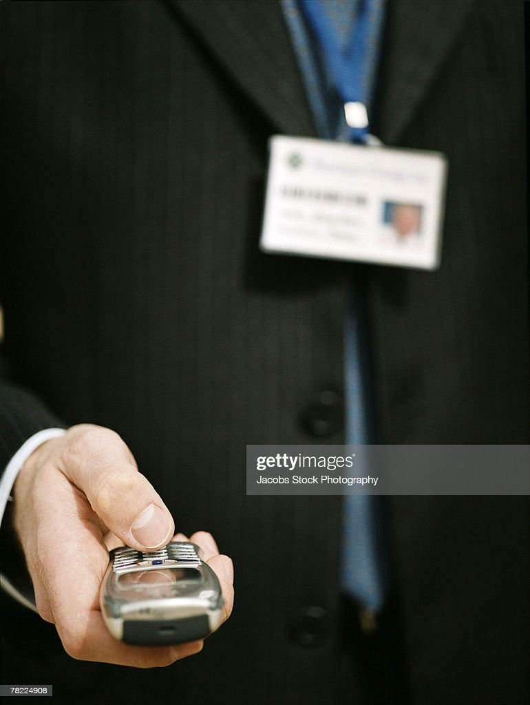 Man with mobile phone : Stock Photo