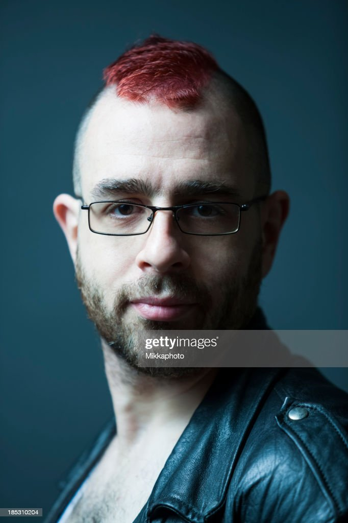 Man with Mohawk Hairstyle