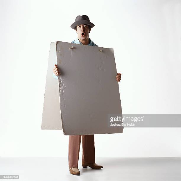 Man with Signboard
