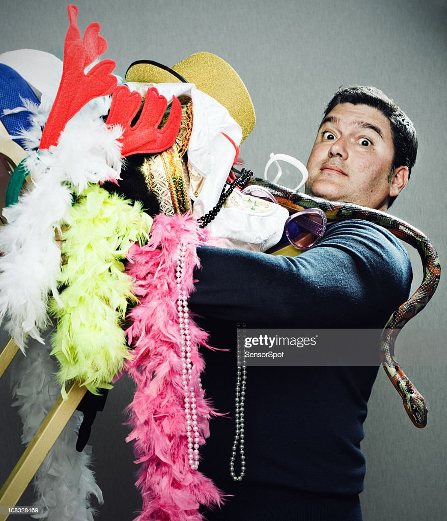 Man with stuff : Stock Photo
