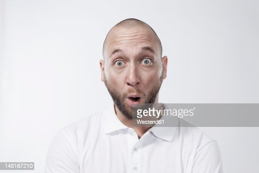 Man with surprised look, portrait