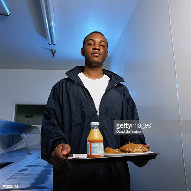 Man with Tray of Food