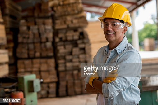 Man working at a carpentry
