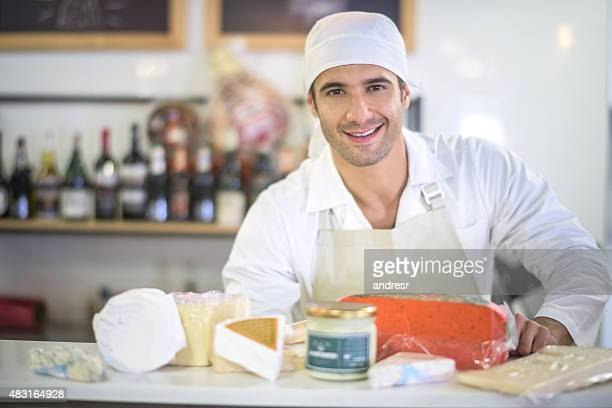 Man working at a delicatessen