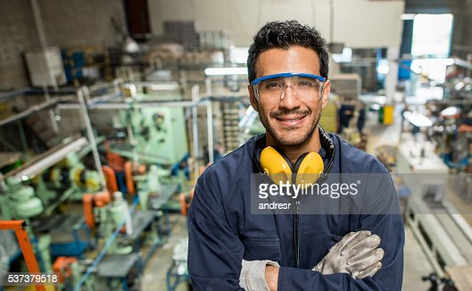 Man working at a factory