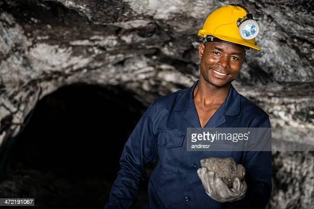 Man working at a mine
