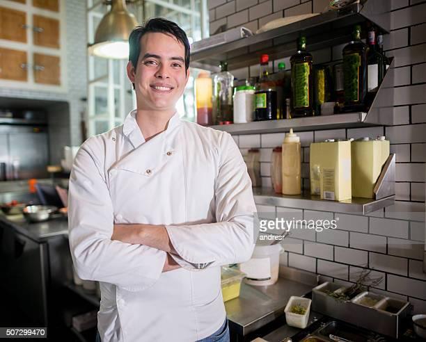 Man working at a restaurant