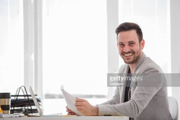 Man working at modern office