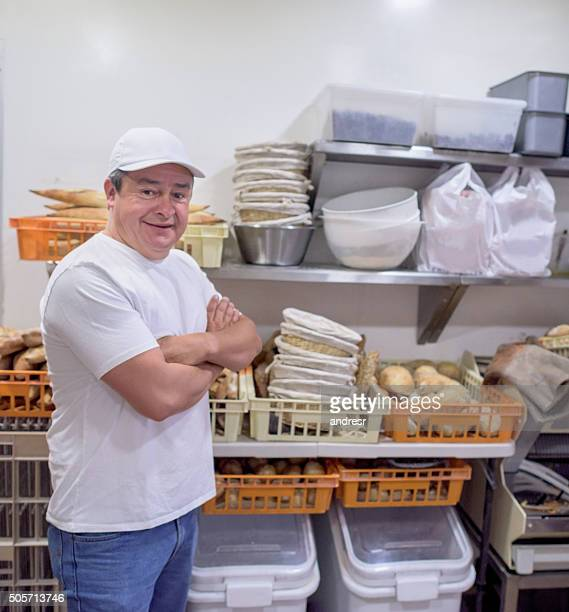 Man working at the bakery