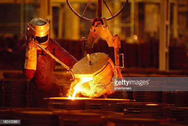 Man Working In a Foundry