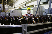 Man working in bottling plant