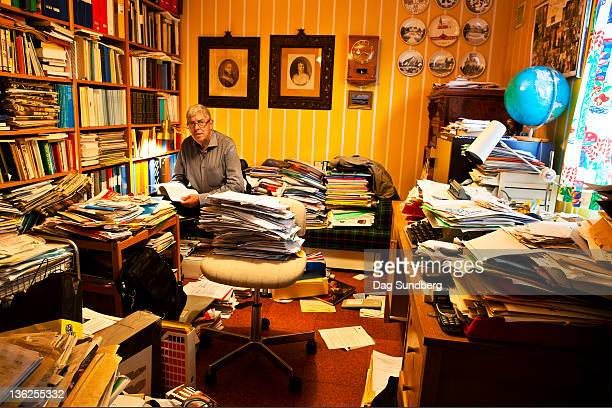 Man working in his study