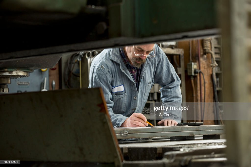 Man working in metal shop