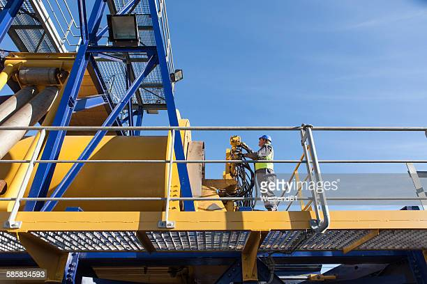 Man working onboard a ship