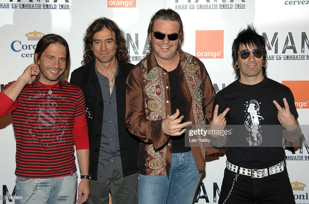 Mana during Mana Promotes 'Amar Es Combatir' Spanish Tour at Casa de America in Madrid, Spain.
