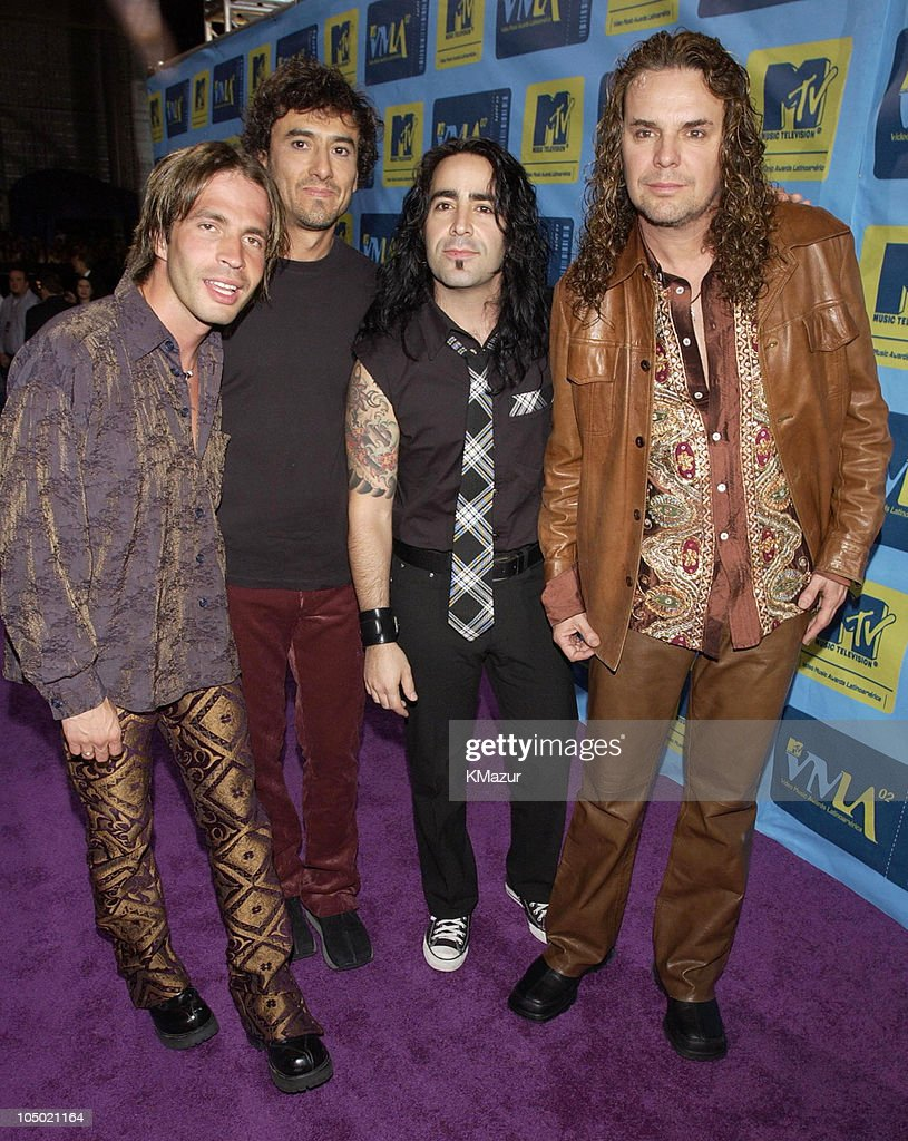Mana during MTV Video Music Awards Latinoamerica 2002 - Arrivals at Jackie Gleason Theater in Miami, Florida, United States.