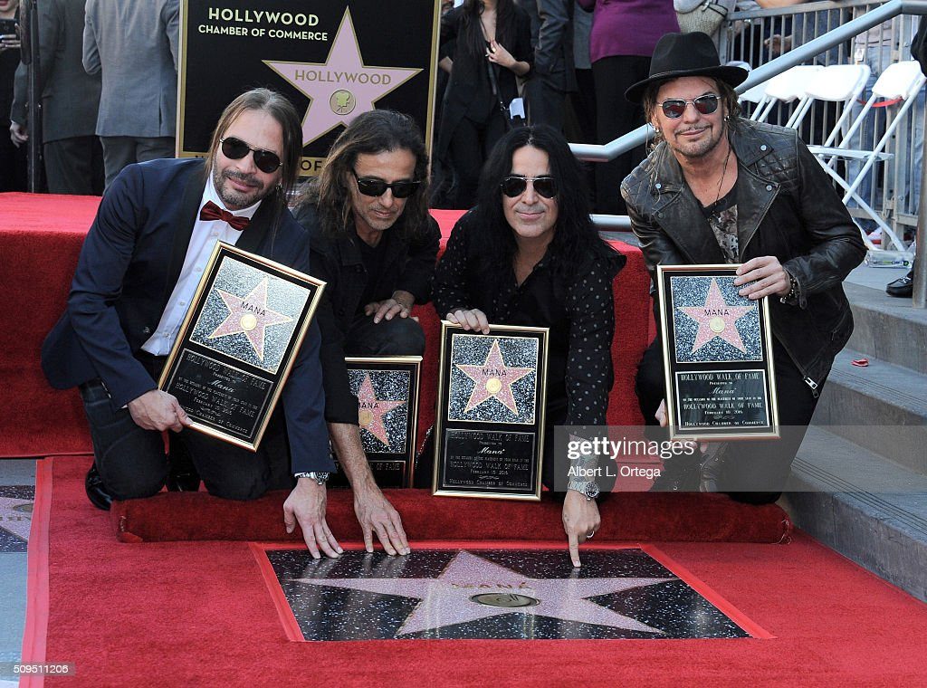 Mana honored with star on The Hollywood Walk Of Fame held on February 10, 2016 in Hollywood, California.