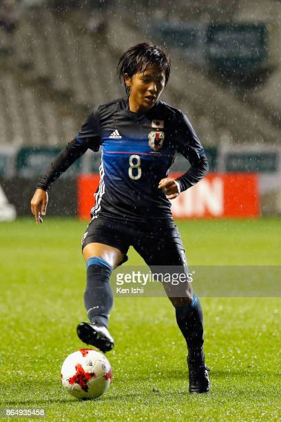Mana Iwabuchi of Japan in action during the international friendly match between Japan and Switzerland at Nagano U Stadium on October 22 2017 in...