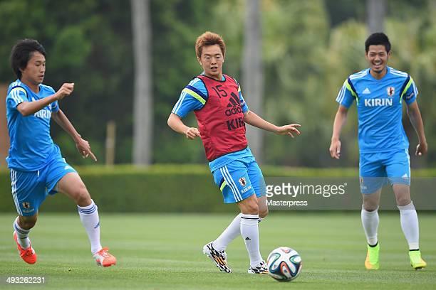 Manabu Saito of Japan in action during the training session on May 22 2014 in Ibusuki Kagoshima Japan