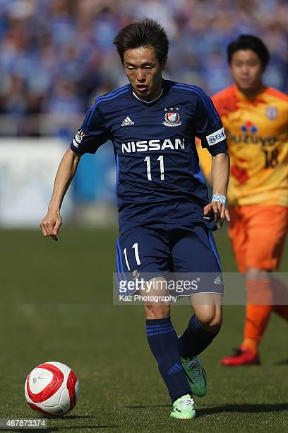 Manabu Saito of Yokohama FMarinos in action during the JLeague Yamazaki Nabisco Cup match between Yokohama FMarinos and Shimizu SPulse at Nippatsu...