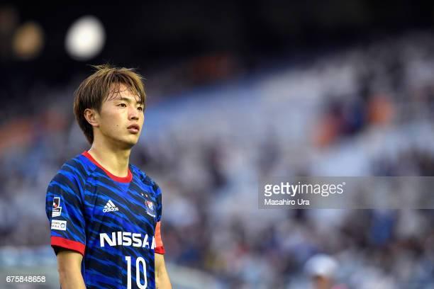 Manabu Saito of Yokohama FMarinos looks on during the JLeague J1 match between Yokohama FMarinos and Gamba Osaka at Nissan Stadium on April 30 2017...
