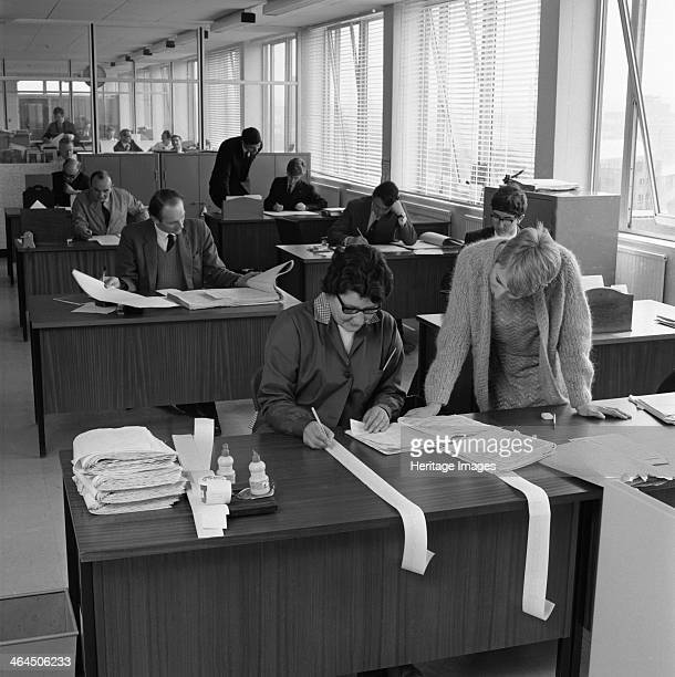 Managed Houses General Office Tetley's brewers Leeds West Yorkshire 1968 Tetley's had many tied houses in the 1960s Here in their headquarters in...