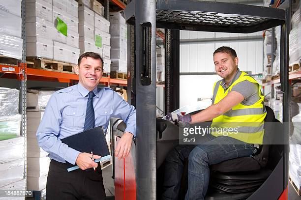 Manager and Forklift Operator