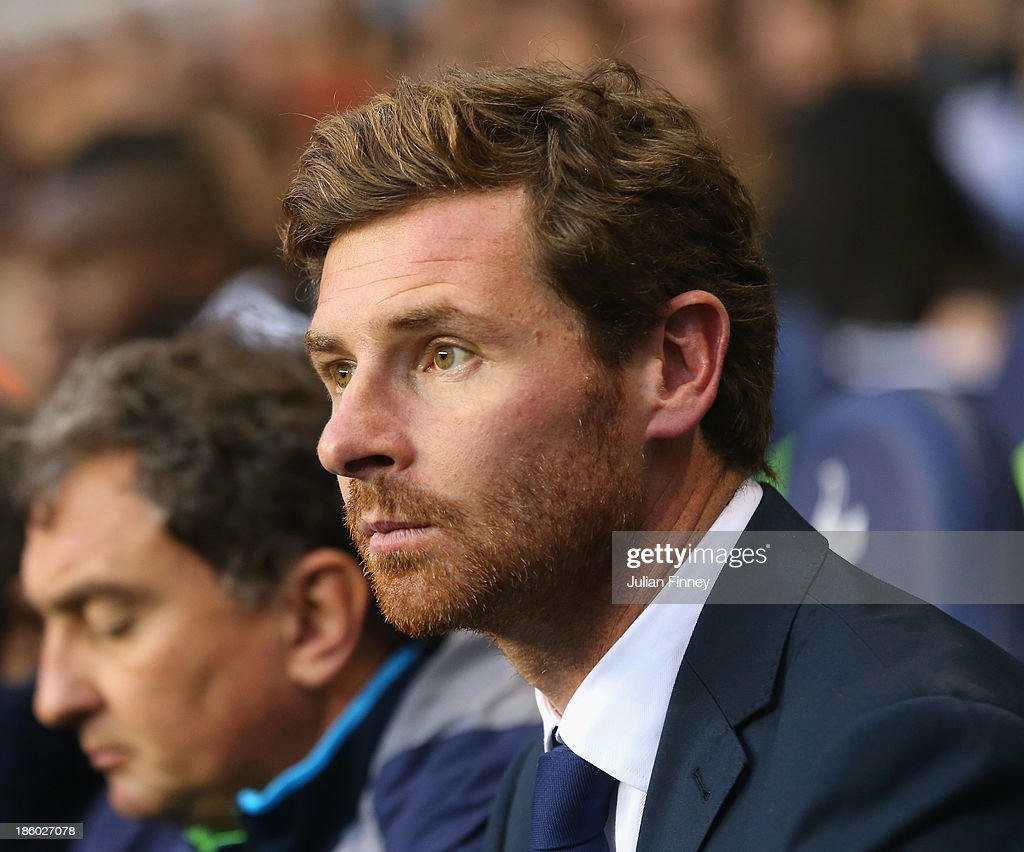 Manager Andre Villas Boas of Spurs looks on during the Barclays Premier League match between Tottenham Hotspur and Hull City at White Hart Lane on October 27, 2013 in London, England.