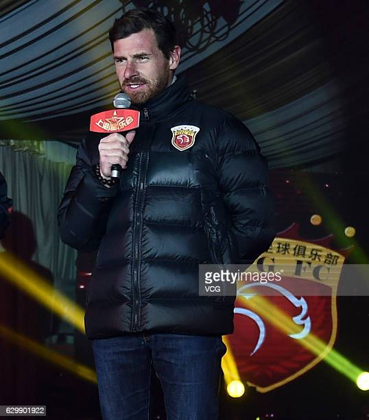 Manager Andre VillasBoas attends the annual fan meeting of Shanghai SIPG FC on December 14 2016 in Shanghai China