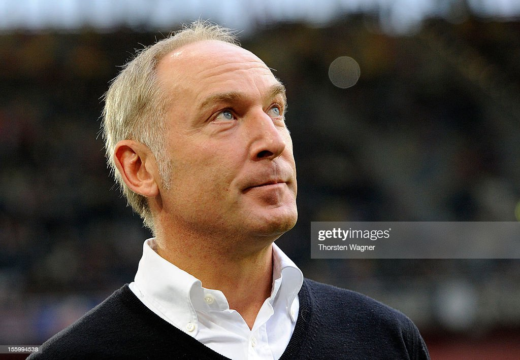 Manager Andreas Mueller of Hoffenheim looks on prior to the Bundesliga mattch between Fortuna Duesseldorf and TSG 1899 Hoffenheim at Esprit-Arena on November 10, 2012 in Duesseldorf, Germany.