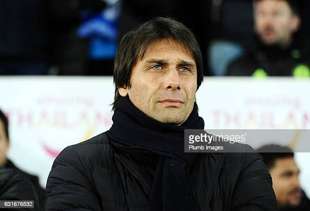 Manager Antonio Conte of Chelsea at King Power Stadium ahead of the Premier League match between Leicester City and Chelsea at King Power Stadium on...